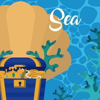 Cute sea cartoons
