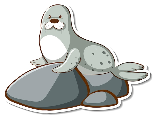 Simpatico adesivo animale sigillo o leone marino