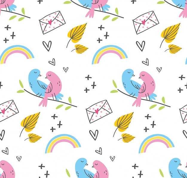 Cute seamless background for fabric pattern