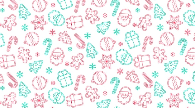 Cute seamless christmas pattern