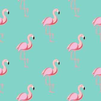 귀여운 원활한 플라밍고 패턴