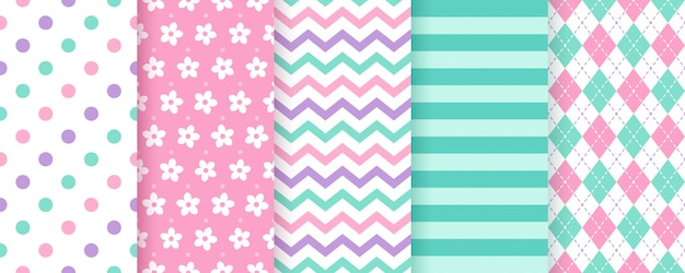Cute seamless geometric pattern