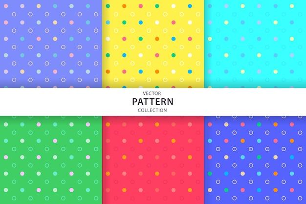 귀여운 원활한 패턴 컬렉션