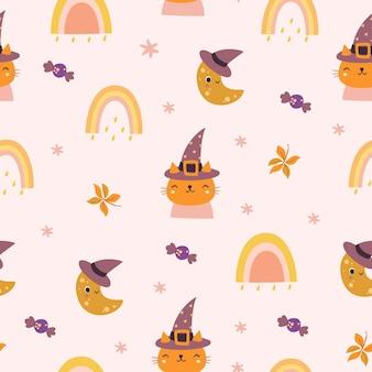 Cute seamless pattern halloween