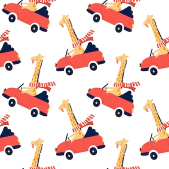 Cute seamless pattern for kids.