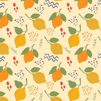 여름의 귀여운 원활한 패턴 벡터