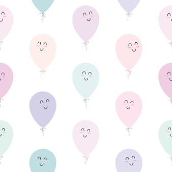 Cute seamless pattern with balloons.
