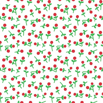 Cute seamless pattern with mistletoe for merry christmas