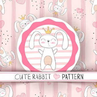Cute seamless pattern