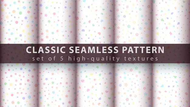 Cute seamless watecolor pattern