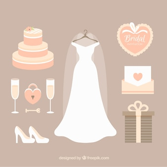 Cute selection of fantastic female wedding accessories