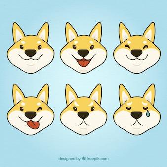 Симпатичные собаки выбор смайликов