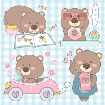 Cute set bear