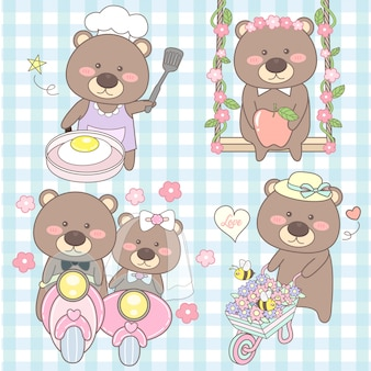 Cute set bear