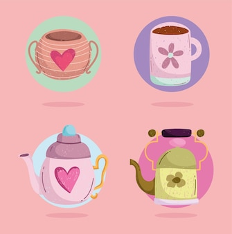 Cute set of cups