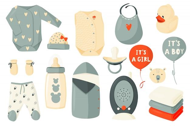 Симпатичный комплект одежды для новорожденных.