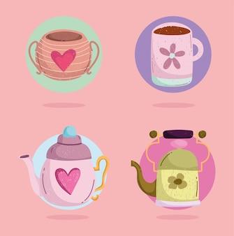 귀여운 컵 세트