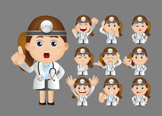 医者のかわいいセット
