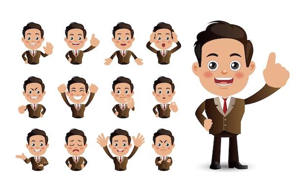 Cute set  set of business people