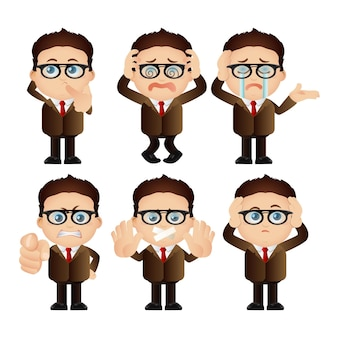 Cute set.  set of businessman character.