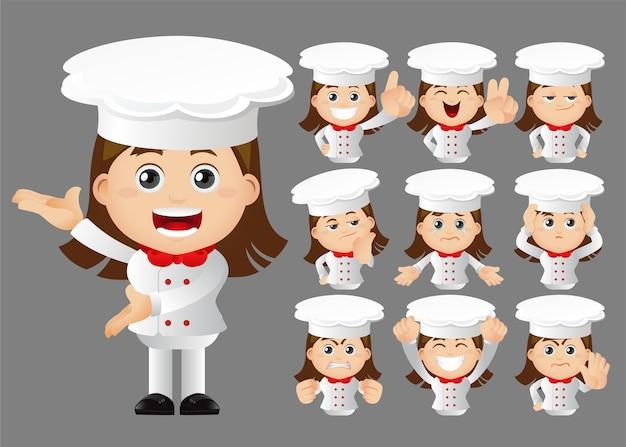 Cute set  set of chef