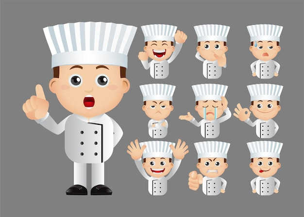 Cute set  set of chef
