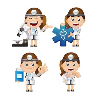 Cute set  set of doctor