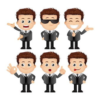 Cute set  set of man character