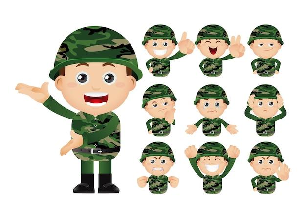 육군 남자의 귀여운 세트 세트