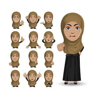 Милый набор - набор мусульман с разными эмоциями