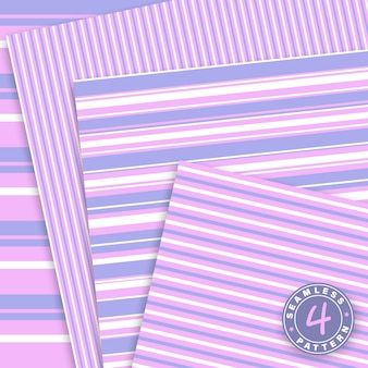 Cute set. stripes seamless pattern. pink, violet colors. paper set .
