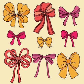 Cute set with bows.