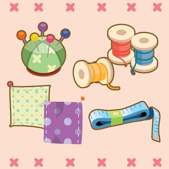 Cute sewing element collection