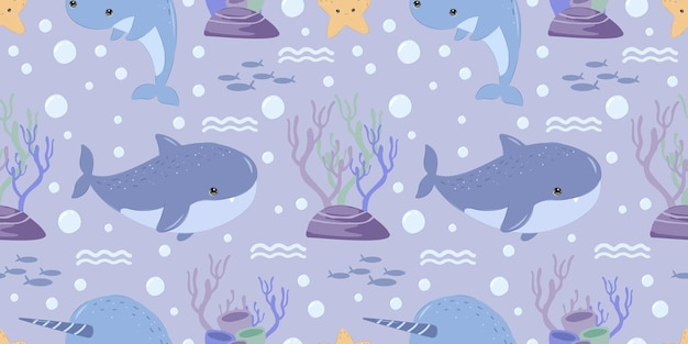 Cute shark seamless pattern for children fabric wallpaper and many more