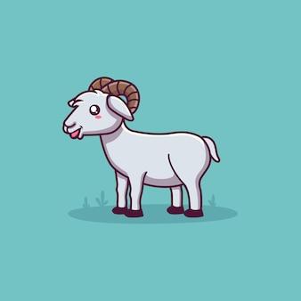 かわいい羊の漫画のキャラクター Premiumベクター