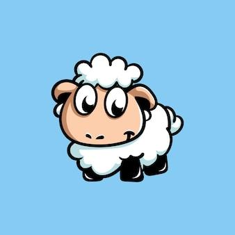かわいい羊のマスコットキャラクター