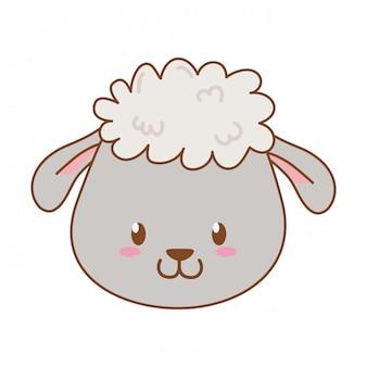 Cute sheep woodland character