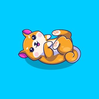 Симпатичный персонаж мультфильма шиба-ину