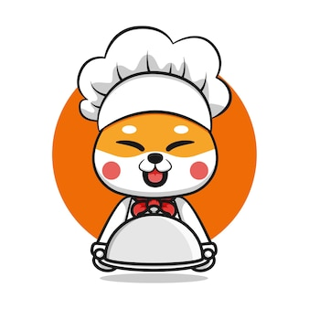 かわいい柴犬シェフのキャラクターデザイン