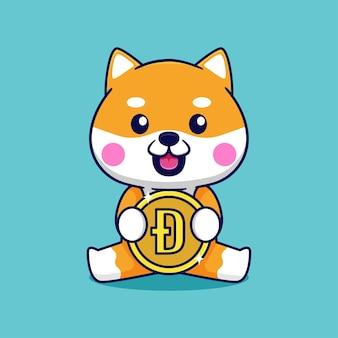 ドージコインでかわいい柴犬のデザイン