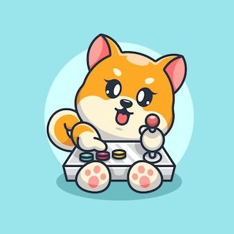 かわいい柴犬ゲーム漫画デザイン