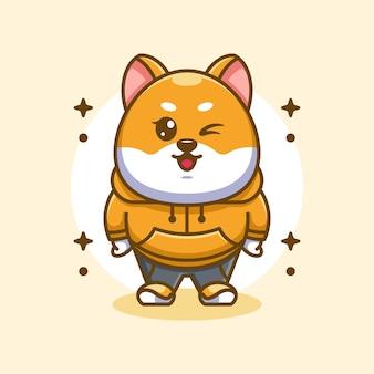 かわいい柴犬の犬のマスコットデザイン