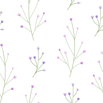 Cute and simple flower buds seamless pattern.