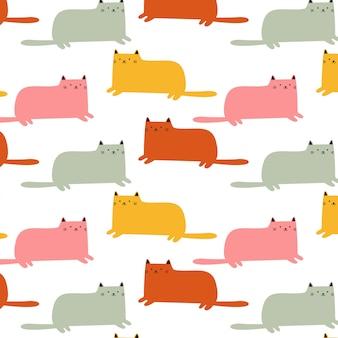 Cute sitting cat pattern