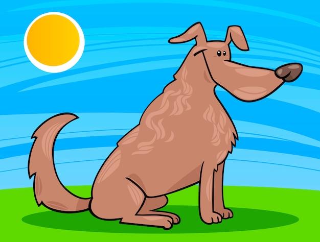 Симпатичные сидеть собака иллюстрации мультфильм