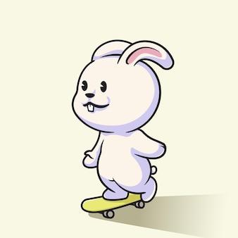 Cute skater bunny illustration design