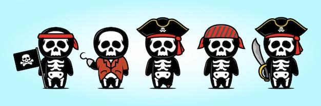 Симпатичный череп талисмана пиратов
