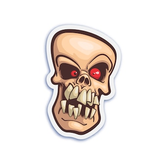 Cute skull sticker