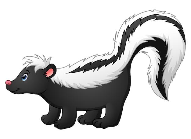 Cute skunk cartoon