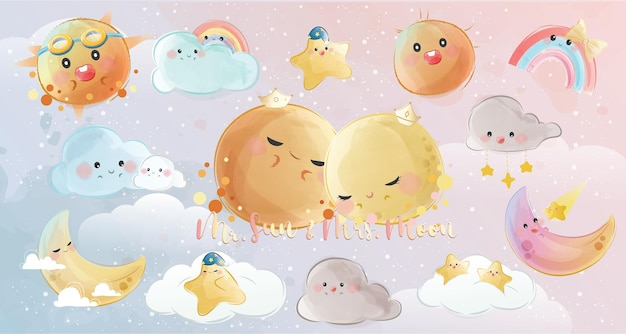 Cute sky objects collections